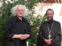 Jean-Luc Leguay et Jean-Yves Leloup, monastère Saint-Michel du Var, juillet 2012 (c) V. Dimicoli.jpg